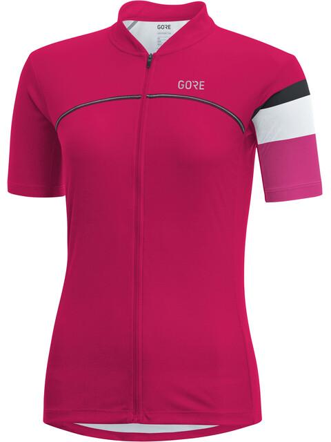GORE WEAR C5 Kortærmet cykeltrøje Damer pink